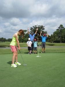 golf celebration