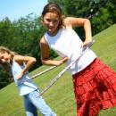 Hula Hoops, Frisbees, Robes and Golf Balls… a good day!